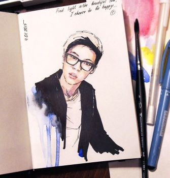 Portrait of one good korean guy) (Daily sketch #1) by PolinaQueen