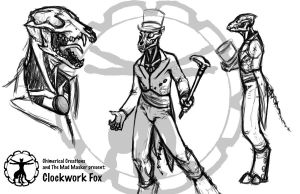 CC- Clockwork Fox by Terra-fen