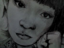 A drawing of myself (Closer) by lorellee