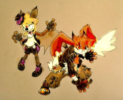 Zenox and Liliac halloween town style by twisted-wind