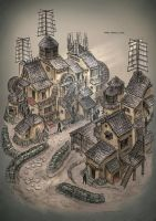 Fortress village by ortsmor