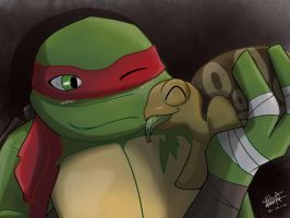 Raph N Spike by YoruNekoChi