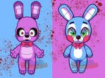 Old VS New Bonnie by RootisTabootus