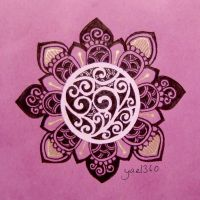 Purple royal mandala by yael360