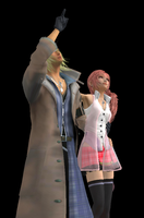 Snow and Serah by xionsmiles