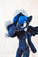 Plush anthro pony Princess Luna by Ketikaket