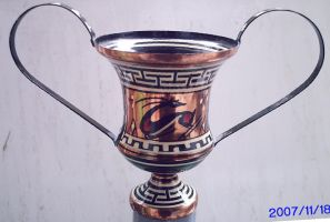 copper ancient greek vase by Caged2007