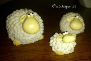 Sheep and sheep by Cloudwhisperer67