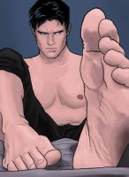 Agent Grayson feet by Final-Fantaisies