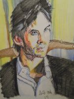 Portrait of Damon by fbforbill