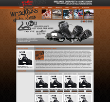 Webdesign - Skateshop by Lumzor