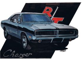 69 dodge charger RT by sketch52000