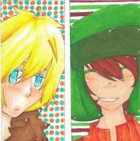 Kenny and Kyle Copics by dangoaddict
