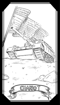 CHARIOT--Tarot Major Arcana--Uncolored by christhedillow