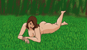 Laying in the Grass by LawrenceOfCanadia