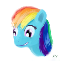 Pristmatic Blue Fast Painty Thingy by HalflingPony