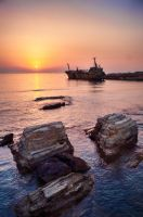 Peyia Sunset by woody1981