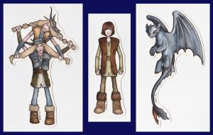 HTTYD Bookmarks by Achen089