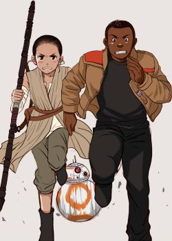 Fin and Rey by nemling