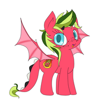 Dragon Fruit Pony (custom) by NubbyBunns
