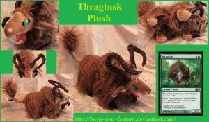 Thragtusk Plush - Commission - Magic the Gathering by Forge-Your-Fantasy