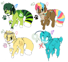 Cat Adoptables Batch #2 (ALL SOLD) by Oashi