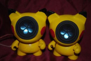 Pikachu speakers by boot-cheese-3000