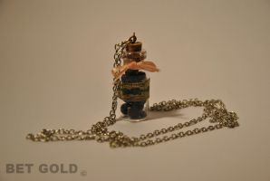 blueberries bottle charm by BETGOLD