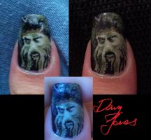 Pirates of the Caribbean Davy Jones nail art by amanda04