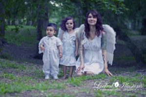 angel family by LockedIllusions