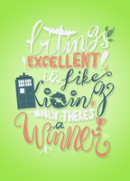 Biting - Hand Lettering - Dr. Who by Abbysidian