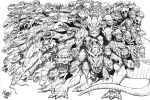 100 Headed Dragon - Lineart by SeanRM