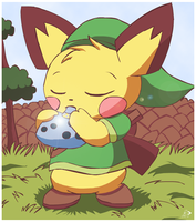 Sparks and the Ocarina of Time by pichu90