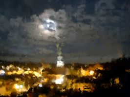 Full moon - impressionism by What-is-worth