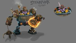 Dota 2 - Timbersaw's set concept art. by TrungTH