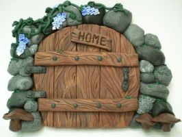Trailing Blues Stone FairyDoor by KimsButterflyGarden
