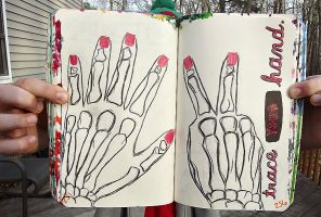 Wreck This Journal: Trace Your Hand. by HeavenlyWitchx