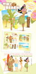 Tiki Beach Tropical Vectors by jwebster45206