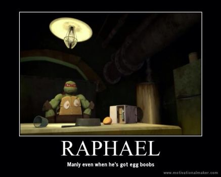Raphael's manliness by IronBatMaiden91