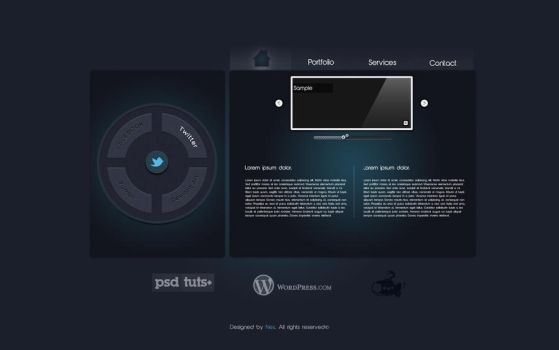 Futuristic Webdesign by Nes-Production