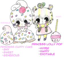 Lolly and Cuppy by TinySugarPrincess