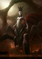 Lolth - Demon Queen of Spiders by m-hugo