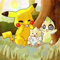 Babysitting Togepi by Hibouette