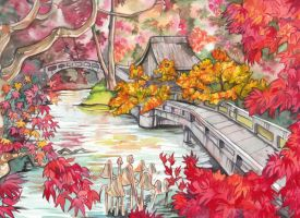 Kyoto in the Fall by spiderlady