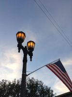 Lamp post among the evening sky by BowserHusky