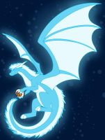 Gift- Florescent Dragon by DragonsFlameMagic