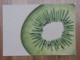 Kiwi - colour pencil by KidnapTheSandyClaws