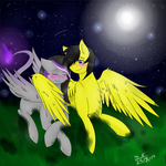 Commission - ''We'll be counting stars'' by SidStraws
