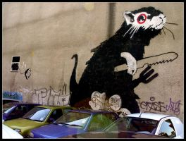 Banksy Rat by brownos