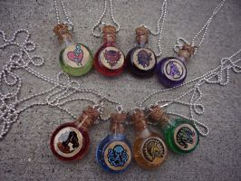 BioShock Infinite Vigor Necklaces by MaddieLea